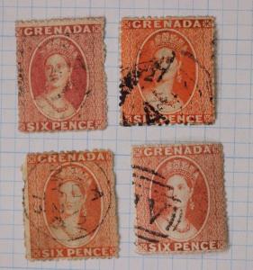Grenada British sc#4,5,5a,5i sg#6,7 pence used color shade variety cv$330.00+