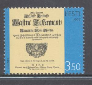 Estonia Sc 330 1997 Estonian Bible stamp mint NH