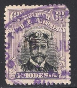 Rhodesia     #127  1913  used  king George V   6p