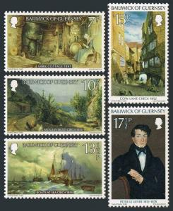 Guernsey MNH 213-7 Christmas Paintings 1980