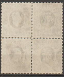 GB George VI  SG 478 Used block of 4