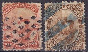 Peru  #17-8  Used  CV $9.25  (Z4357)