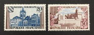 France 1959 #935-6, Avesnes-Sur-Helpe, MNH.