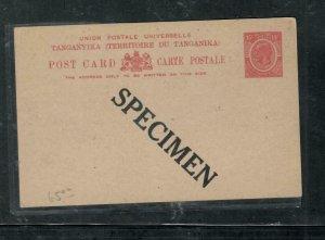 TANGANYIKA  COVER (P2908B)  KGV 15C  PSC  UNUSED SPECIMEN
