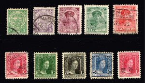 Luxembourg Stamp OLD SUED STAMP COLLECTION LOT  #M2