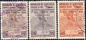 Venezuela #C581-C586  Used  Set
