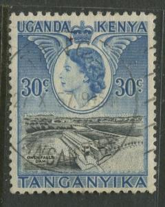 Kenya & Uganda - Scott 108 - QEII Definitive -1954 - Used - Single 30c Stamp