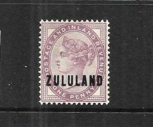 ZULULAND  1888-93  1d  QV  MLH  SG 2