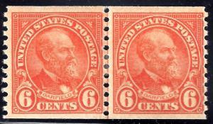 U.S. 723 FVF Mint JL PAIR 60.00 Bright (723-3)
