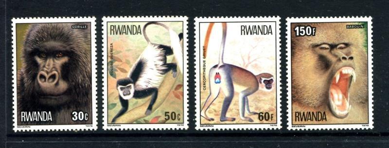 Rwanda 857-864, MNH, Animals 1978. x22743