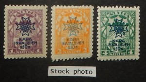 Latvia B21-23. 1923 War Invalids, NH