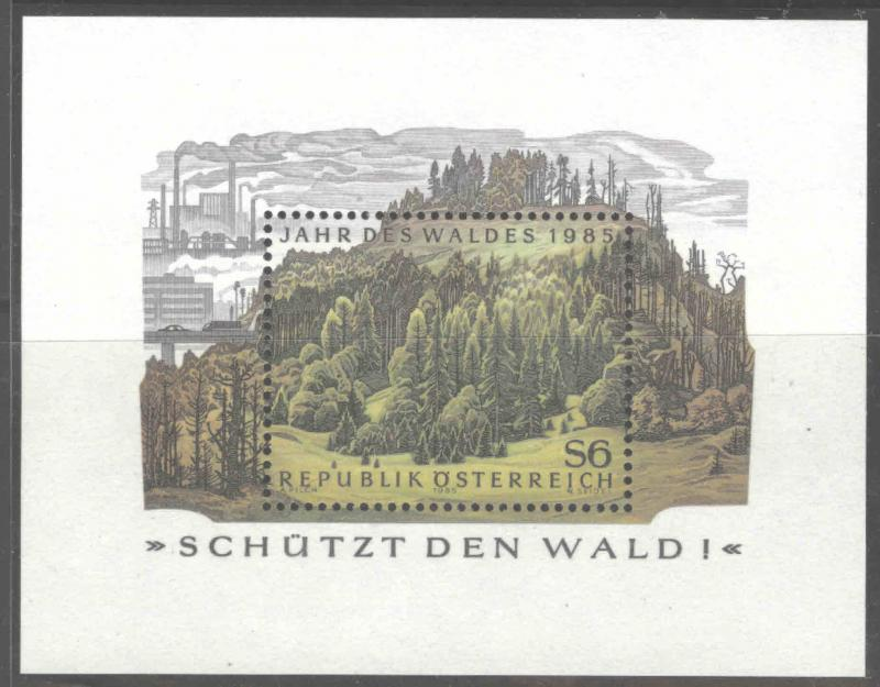 Austria Osterreich Scott 1319  MNH**  1985  Forest mini sheet