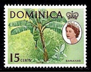 DOMINICA - 1963 - QE II - BANANAS - TREES  # 174 - MINT - MNH SINGLE!