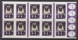 AUSTRALIA SGSB435(3946a) 2013 TOP DOGS BOOKLET MNH
