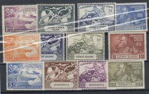 Cayman Dominica Gilbert Ellice 1949 UPU Sets x 3 MNH JK432
