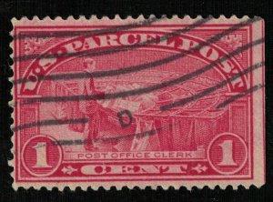 USA, 1913, SC #Q1, 1 cent, Parcel Post Stamps (T-7061)