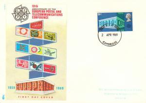 Great Britain Scott 585 Rubberstamp Address.