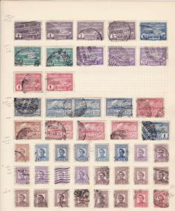 Uruguay Stamps on album page Ref 15606