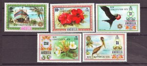 J22383 Jlstamps 1976 anguilla better part of set mh #241-5 ovpt,s