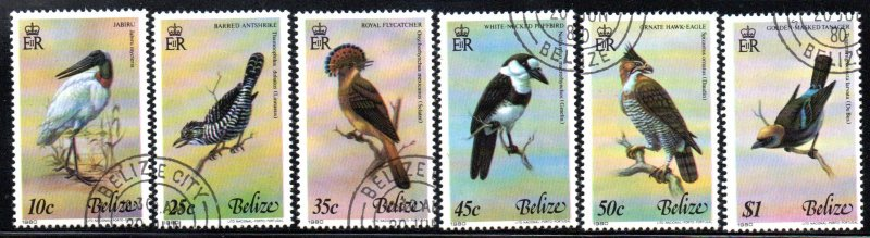 BELIZE 500a-f USED CTO SCV $48.25 BIN $19.30 BIRDS