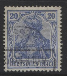 GERMANY. -Scott 69- Definitives -1902 - Used - Ultra - Single 20pf Stamp1
