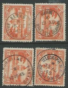 BR GUIANA 1940s pmks of WHIM, BENAB, TELEGRAPH N.A., CORNHILL..............43555