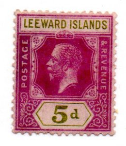 LEEWARD ISLANDS 74 USED SCV $4.50 BIN $1.85 ROYALTY