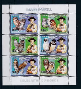 [28654] Congo Kinshasa 2006 Birds Vögel Oiseaux Owls Baden Powell MNH Sheet
