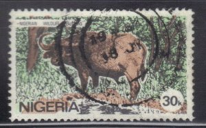 NIGERIA SC #449   30k 1984    BUFFALO  SEE SCAN
