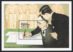 Togo 1646,MNH.Michel Bl.386. VJ Day,50th Ann.Japanese signing peace agreement.