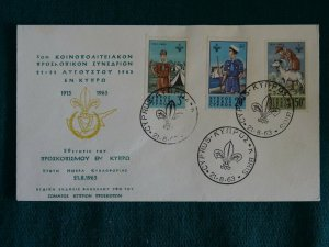 Cyprus 1963 50th Anniversary of Cyprus Scout set Unofficial FDC.