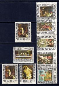Paraguay 1004-1007 Paintings MNH VF