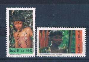 Brazil 2312-13 MNH set Yanomami Indians (B0354)