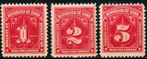 Cuba #J5-J7 Postage Due MH