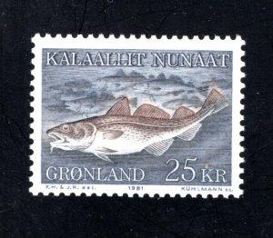 Greenland 140  VF, MNH, CV $8.75 ...2510249