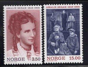 Norway Scott 1139-1140 MNH**  stamp set perf tip thin on 1140