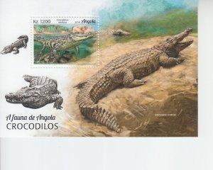 2019 Angola Crocodiles SS (Scott NA) MNH