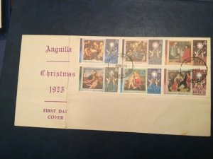 ICOLLECTZONE Anguilla Christmas First Day Cover VF NH