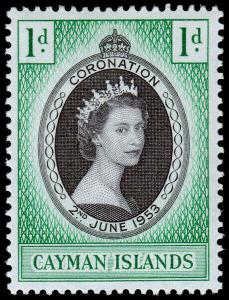 Cayman Islands Scott 150 (1953) Mint H F-VF M
