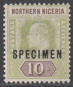 Northern Nigeria 18 MNG Specimen Overprint CV $55.00