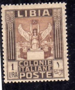 LIBIA 1921 PITTORICA LIRE 1 LIRA MLH