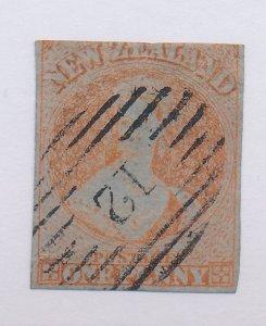 New Zealand Stamp Scott #4, Used - Free U.S. Shipping, Free Worldwide Shippin...