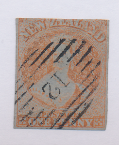 New Zealand Stamp Scott #4, Used - Free U.S. Shipping, Free Worldwide Shippin...