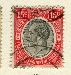 TANGANYIKA; 1927 early GV issue fine used 15c. value