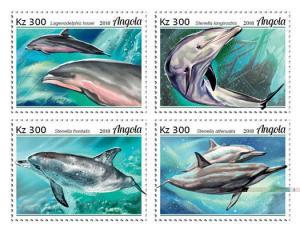 Z08 ANG18105a ANGOLA 2018 Dolphins 4v MNH ** Postfrisch