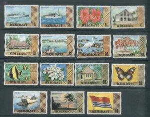 Kiribati 327-340A  MNH cgs