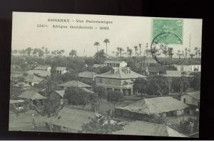 1904 Konakry French Guinea RPPC of Town Cover postcard
