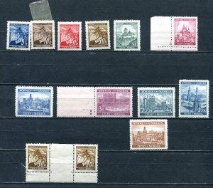 Czechoslovakia Bohemia&Moravia Accumulation Mostly MNH/Mhsingle,gutter-pair 7484