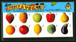 SG2348-2357, 2003 Fruit & Veg, PRESENTATION PACK. Cat £60