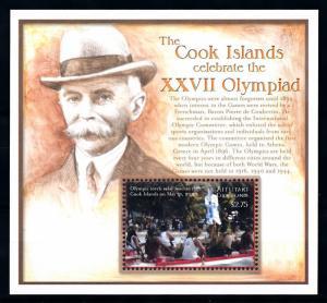 [92377] Aitutaki Cook Isl. 2000 Olympic Games Sydney Torch Relay Sheet MNH